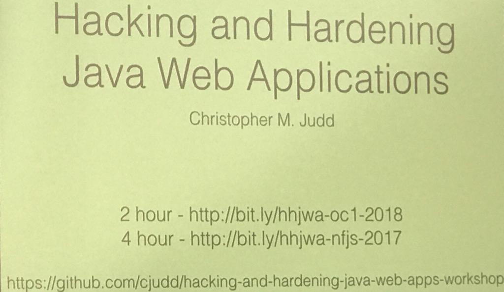 Hacking and Hardening Java Web Applications Workshop | IvoNet